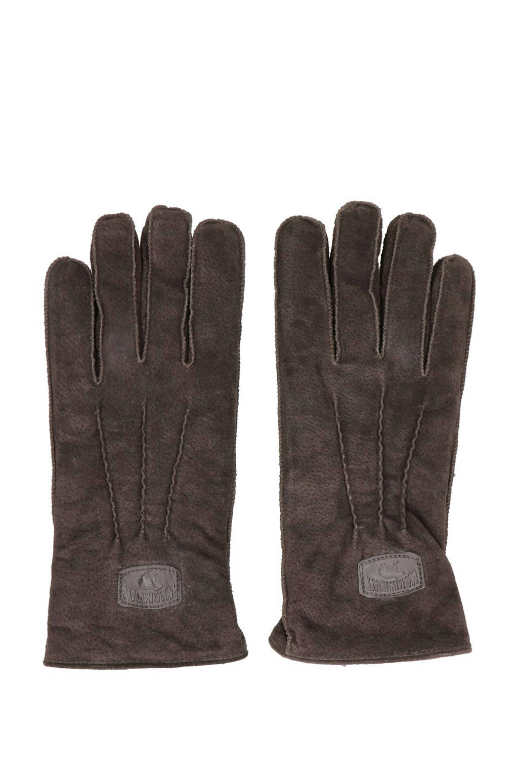 Warmbat Australia suede handschoenen donkerbruin, Expresso
