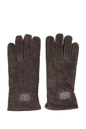 suede handschoenen donkerbruin