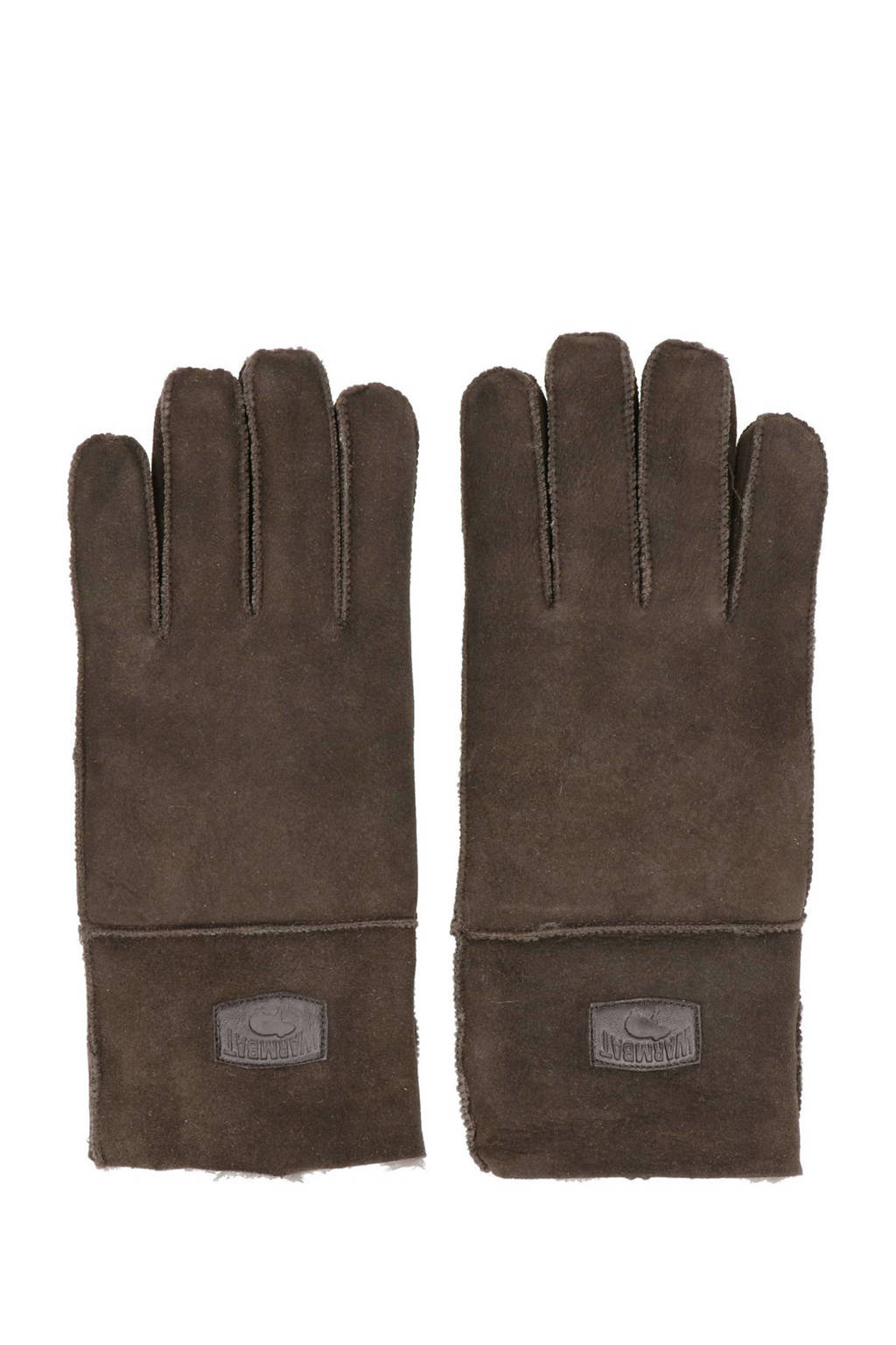 Warmbat Australia suede handschoenen bruin, Bruin