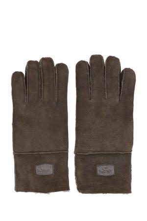 suede handschoenen bruin