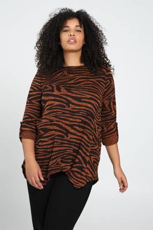 tuniek met zebraprint oranje/zwart