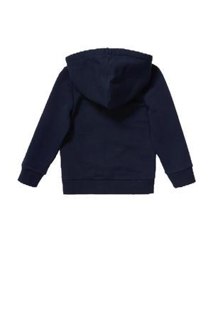 hoodie met printopdruk donkerblauw/groen