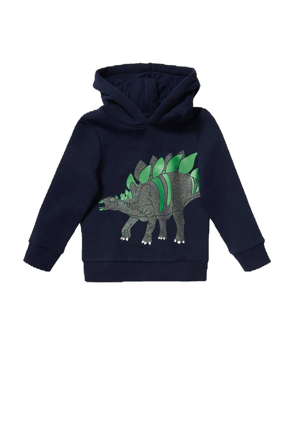 C&A Palomino hoodie met printopdruk donkerblauw/groen, Donkerblauw/groen