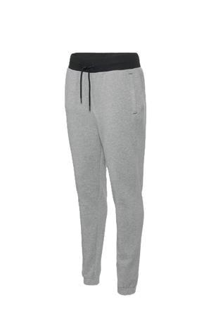 slim fit joggingbroek grijs