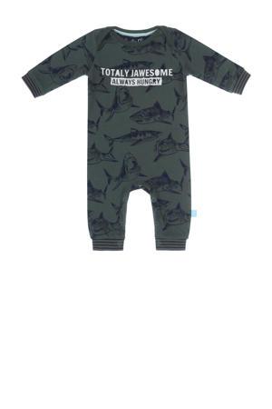 baby boxpak met all over print groen/donkerblauw
