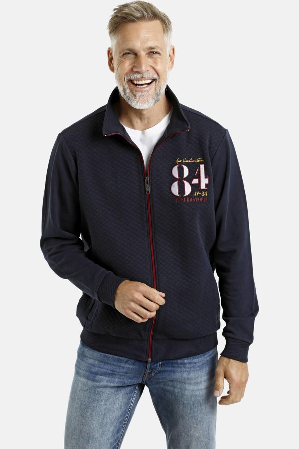Jan Vanderstorm vest Plus Size Plus Size donkerblauw, Donkerblauw