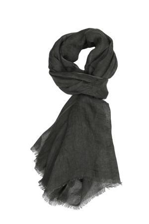 linnen sjaal donkergroen