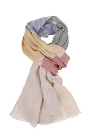 linnen sjaal beige/multi