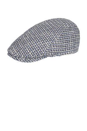 flatcap ecru/blauw