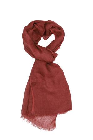 linnen sjaal rood