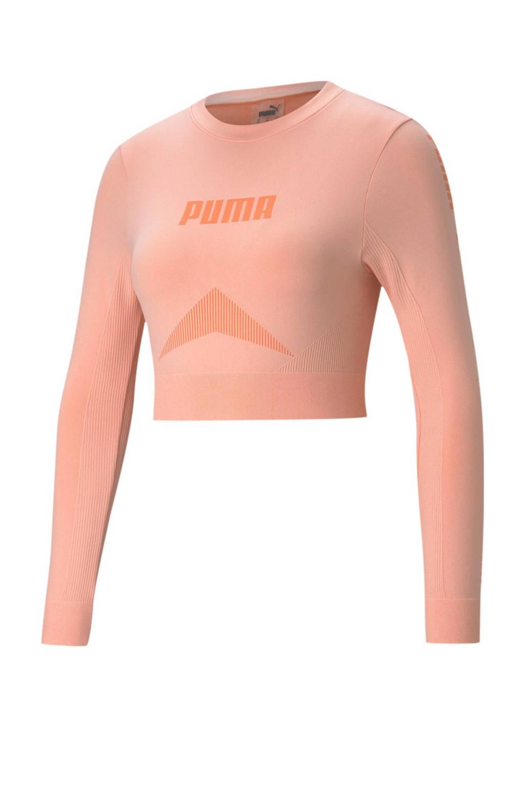 Puma cropped longsleeve roze, Roze