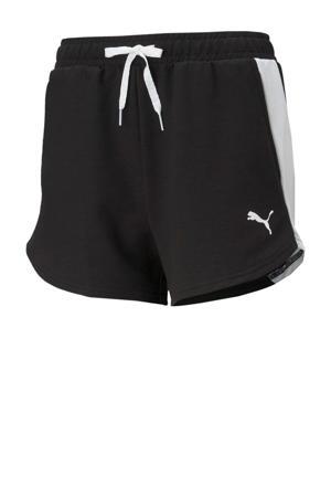 sweatshort zwart/wit