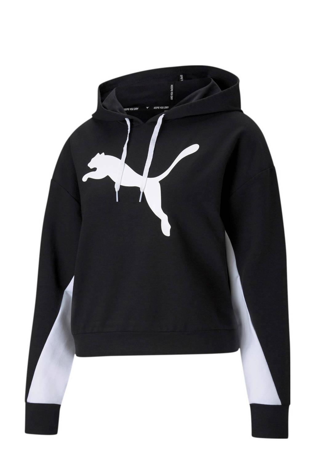 Puma hoodie zwart/wit, Zwart/wit