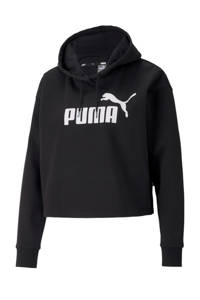 Puma cropped hoodie zwart, Zwart