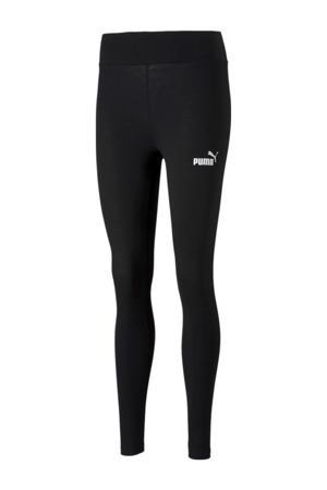high waist slim fit legging met logo zwart