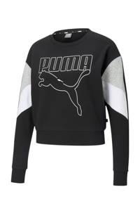 Puma sweater zwart/grijs/wit, Zwart