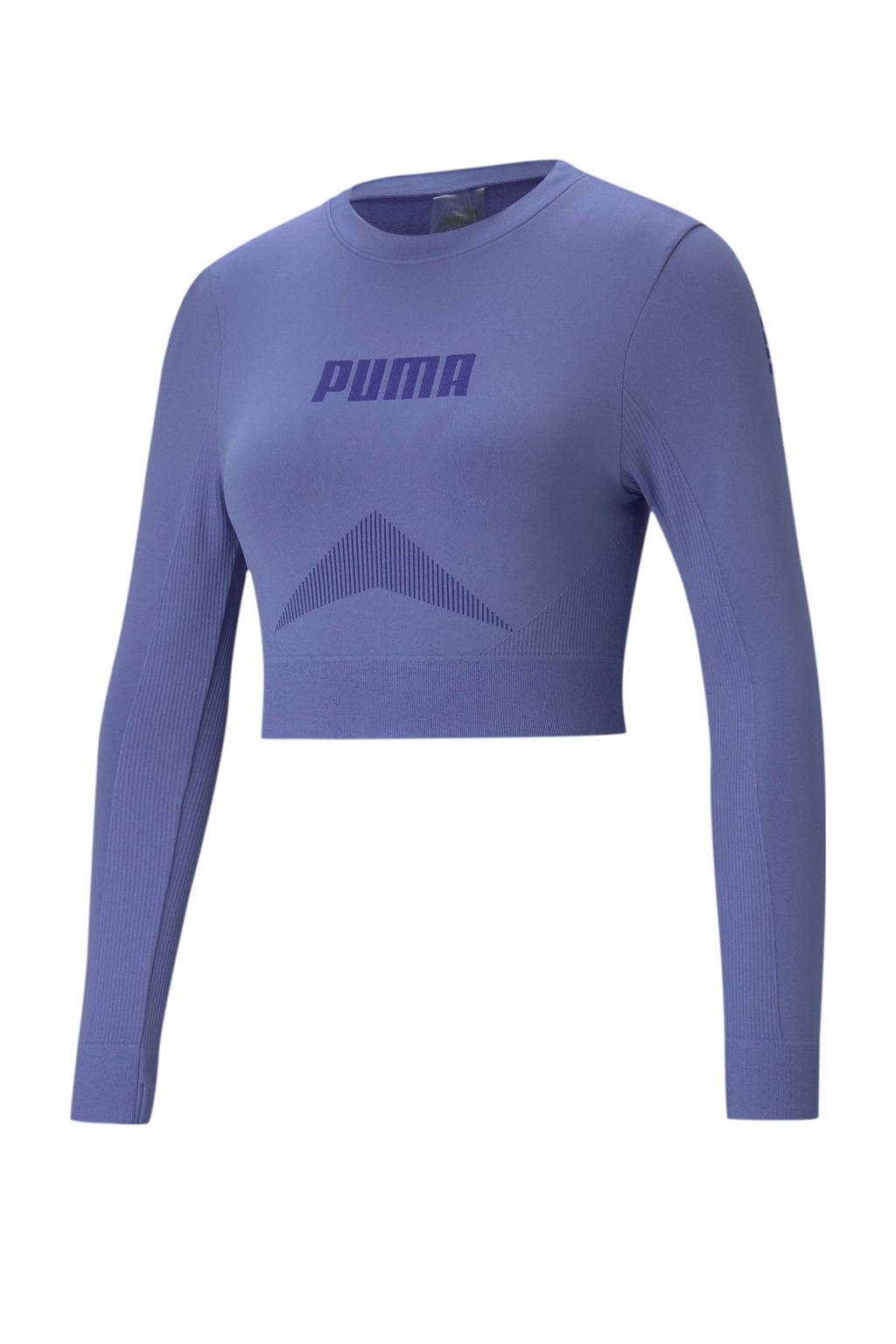 Puma cropped longsleeve blauw, Blauw
