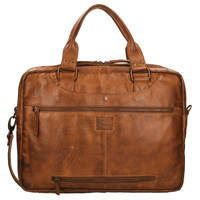 Bear Design  15 inch Cow Lavato Laptoptas cognac, Bruin