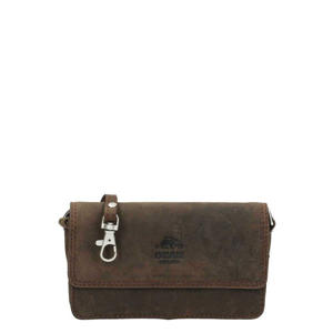 leren crossbody tas Dark Nature Lynn bruin