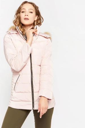 gewatteerde jas nude pink