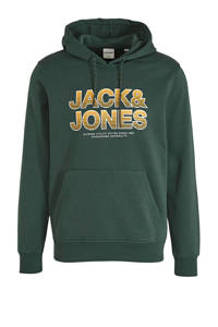 JACK & JONES CORE hoodie SENSE met logo donkergroen, Donkergroen