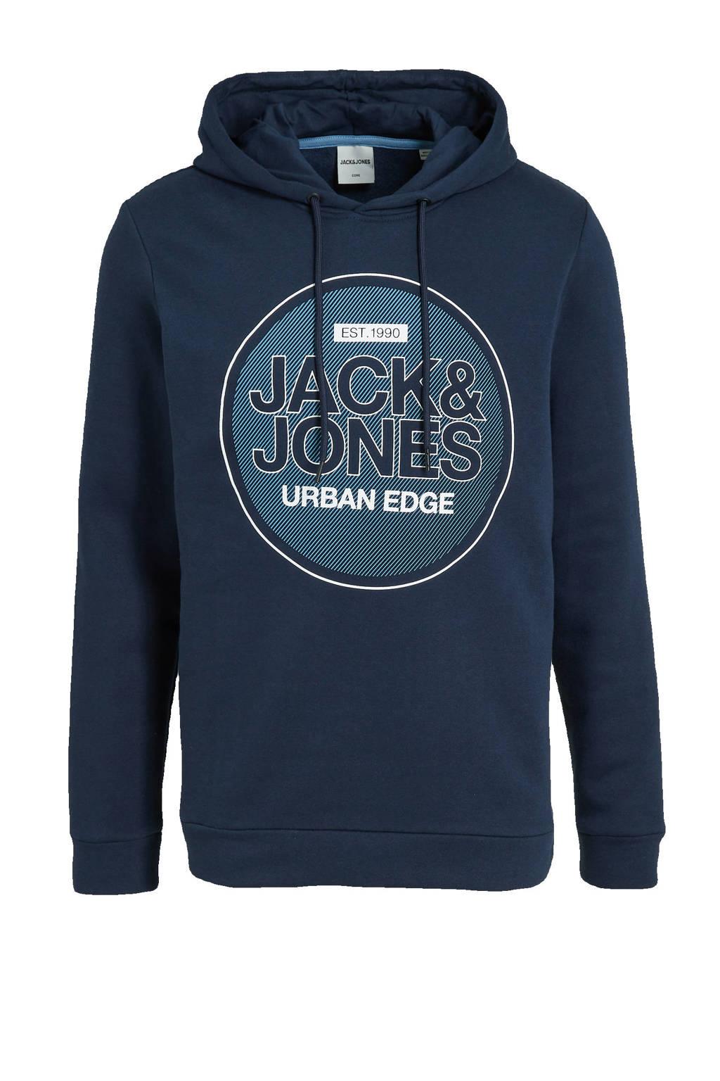 JACK & JONES CORE hoodie Booster met logo donkerblauw, Donkerblauw