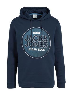 hoodie Booster met logo donkerblauw