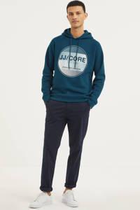JACK & JONES CORE hoodie Booster met logo petrol, Petrol