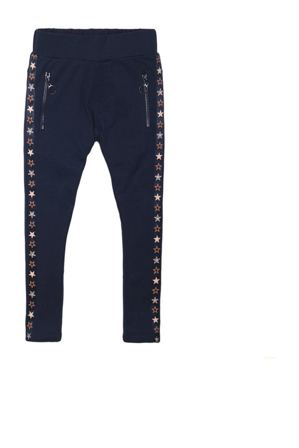 DJ Dutchjeans broek met zijstreep donkerblauw, Donkerblauw