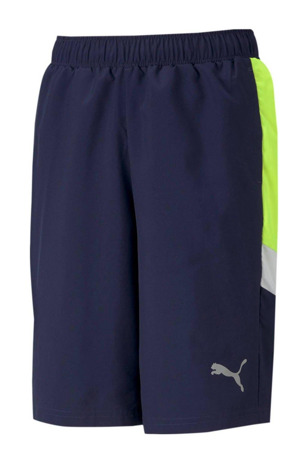 Puma short donkerblauw/limegroen/wit, Donkerblauw/limegroen/wit