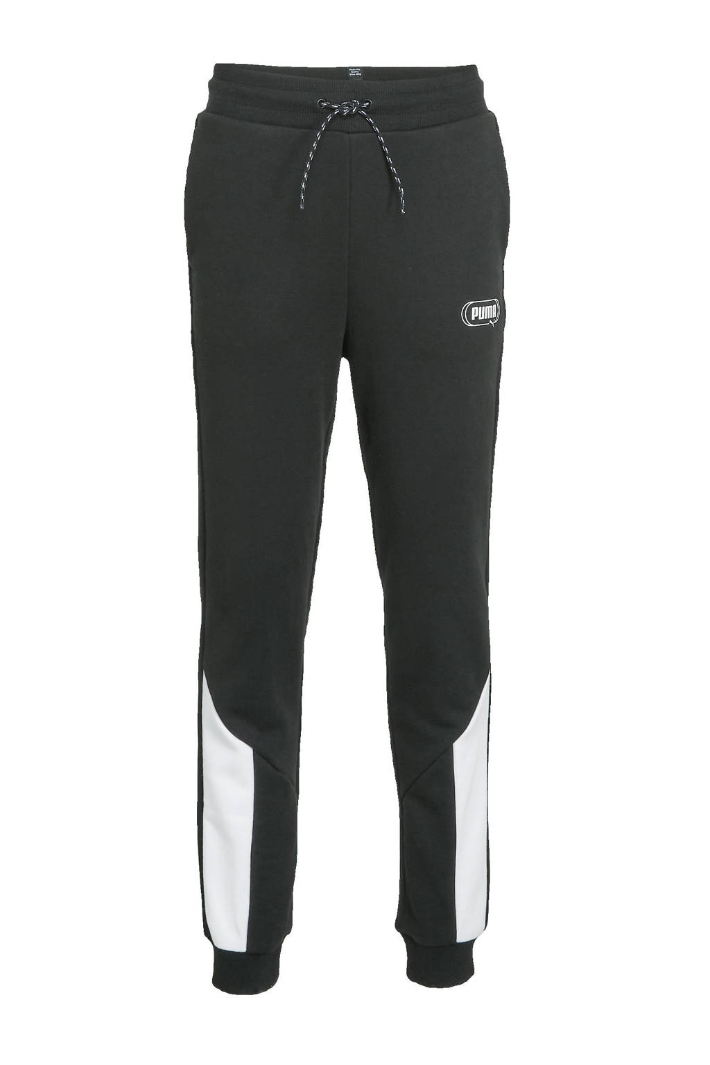 Puma joggingbroek zwart/wit, Zwart/wit