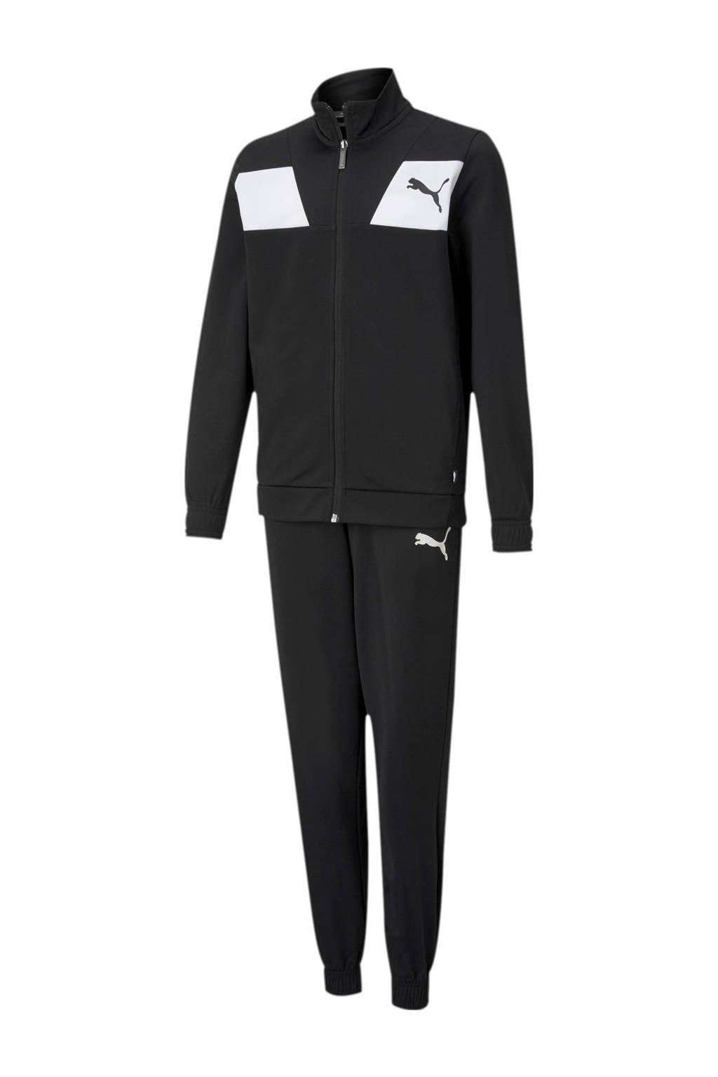 Puma   trainingspak zwart/wit, Zwart/wit