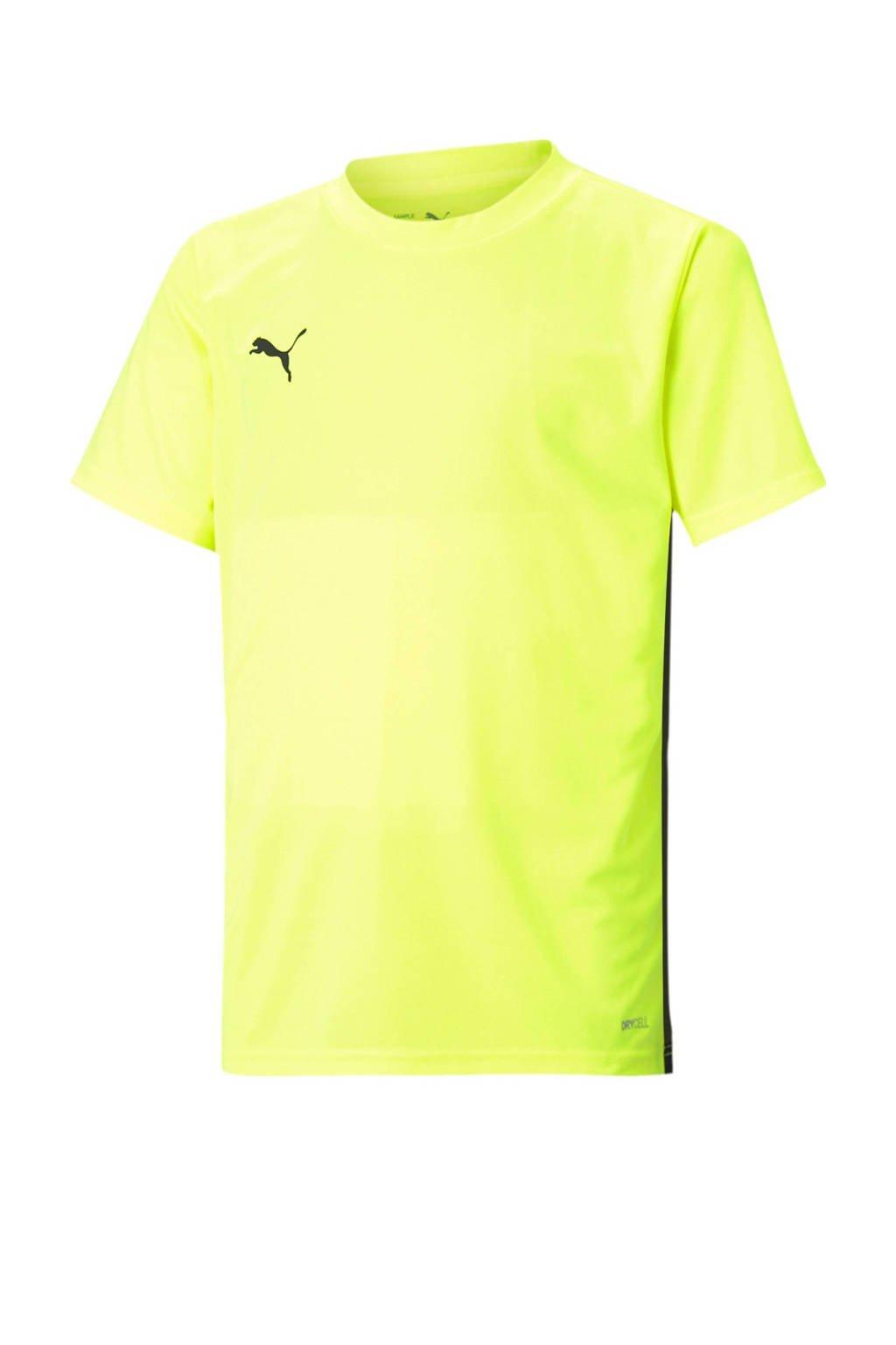 Puma Junior  voetbalshirt geel/zwart, Geel/zwart