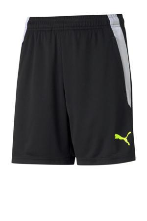 Junior  voetbalshort zwart/geel