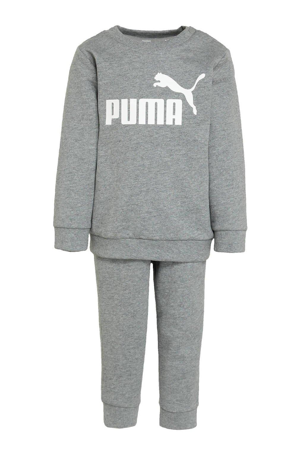 Puma joggingpak grijs, Grijs melange