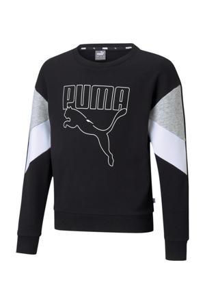 sweater zwart/wit/grijs