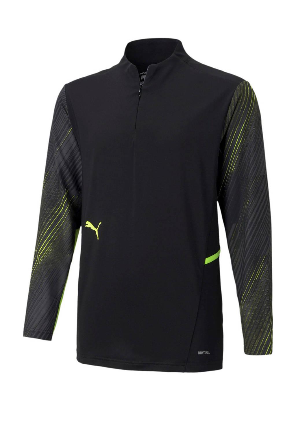 Puma Junior  voetbalshirt zwart/geel, Zwart/geel
