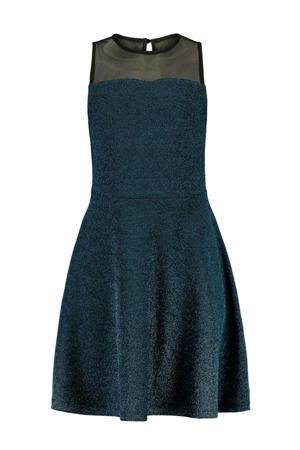 A-lijn jurk Dalila met glitters blauw/zwart
