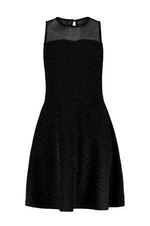 A-lijn jurk Dalila met glitters zwart