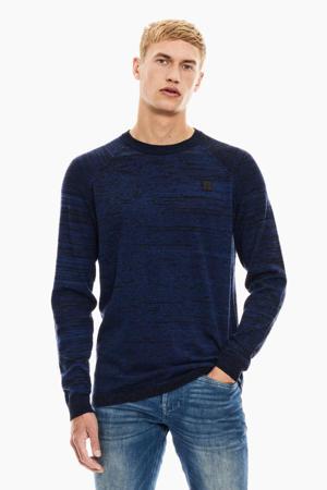 gemêleerde trui blauw/zwart