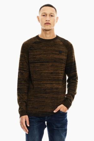 gemêleerde trui bruin/zwart