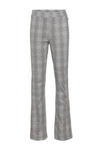 LTB flared broek Bolofa met panterprint zwart/wit, Zwart/wit