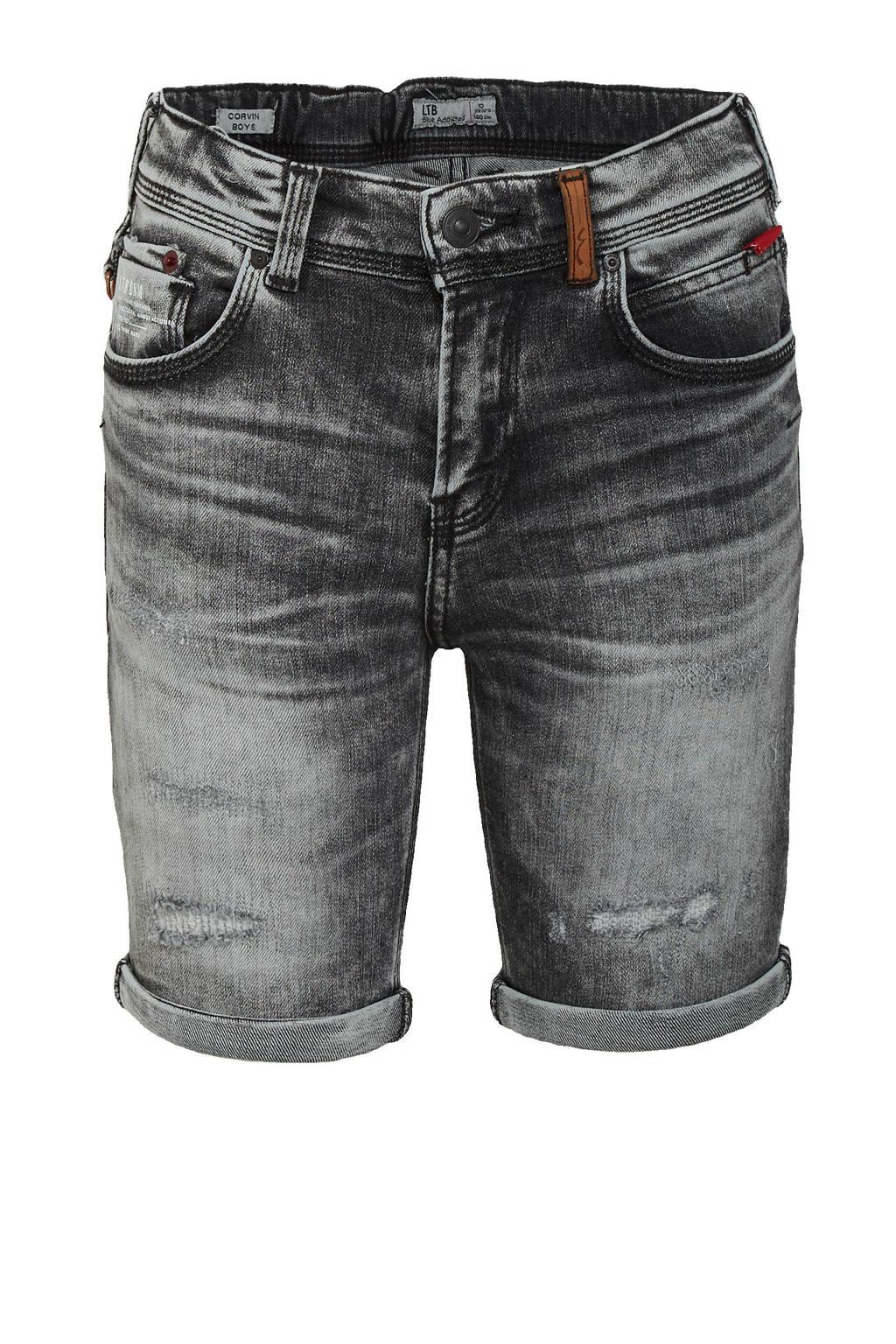 LTB slim fit jeans bermuda Corvin stone grey wash, Stone grey wash