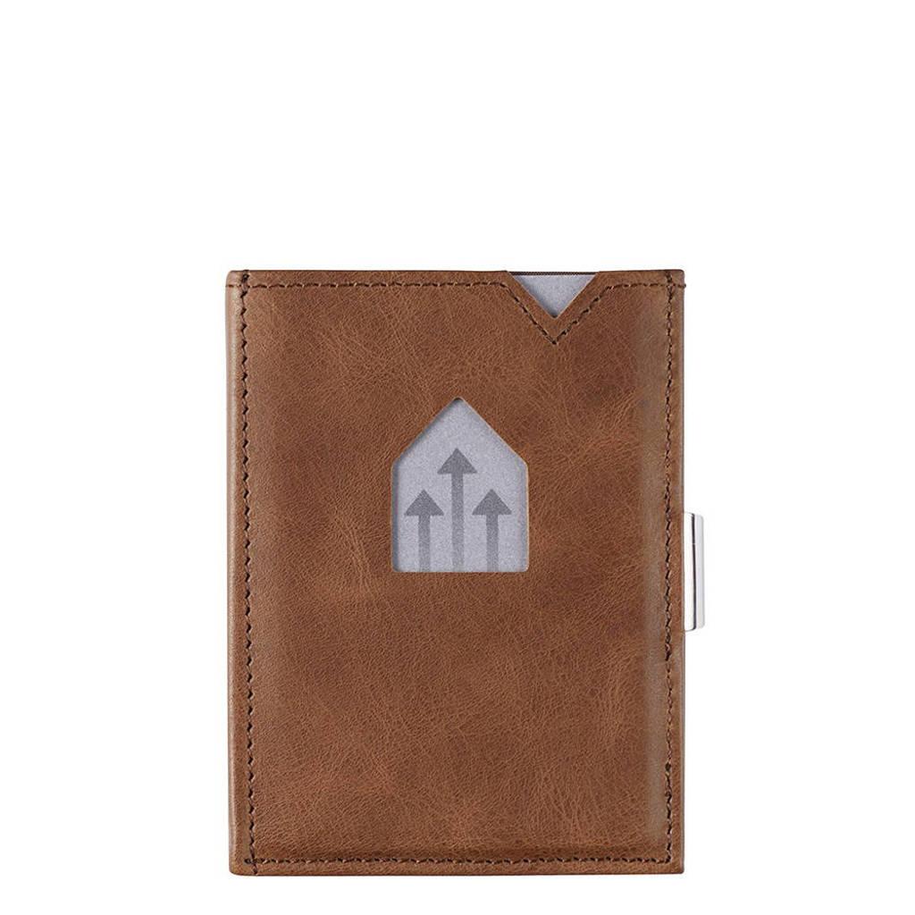 Exentri leren portemonnee RFID donkerbruin, Bruin