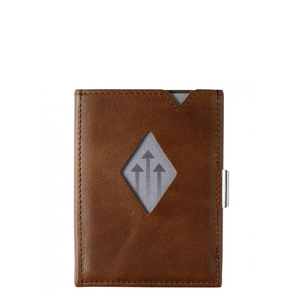 Exentri Leather Multi Wallet donkerbruin, Bruin