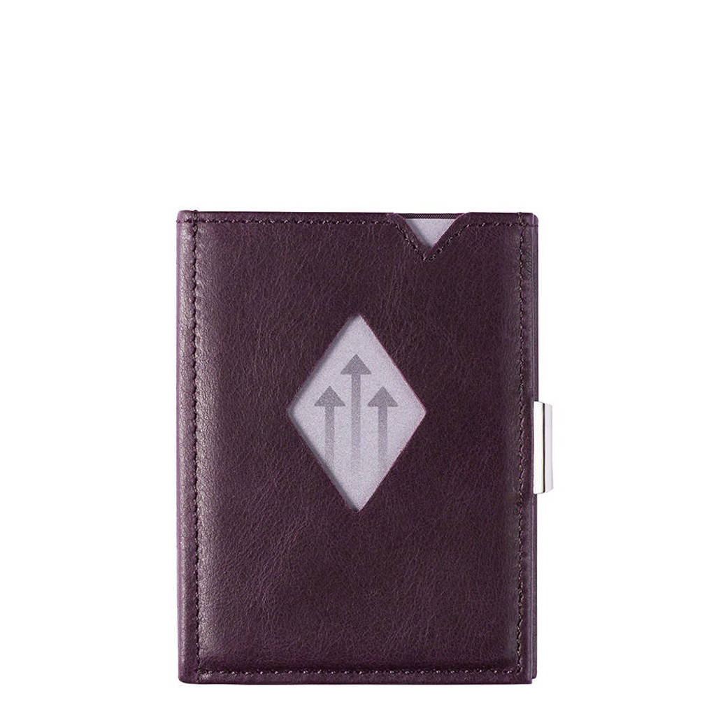 Exentri Leather Wallet RFID paars, Paars