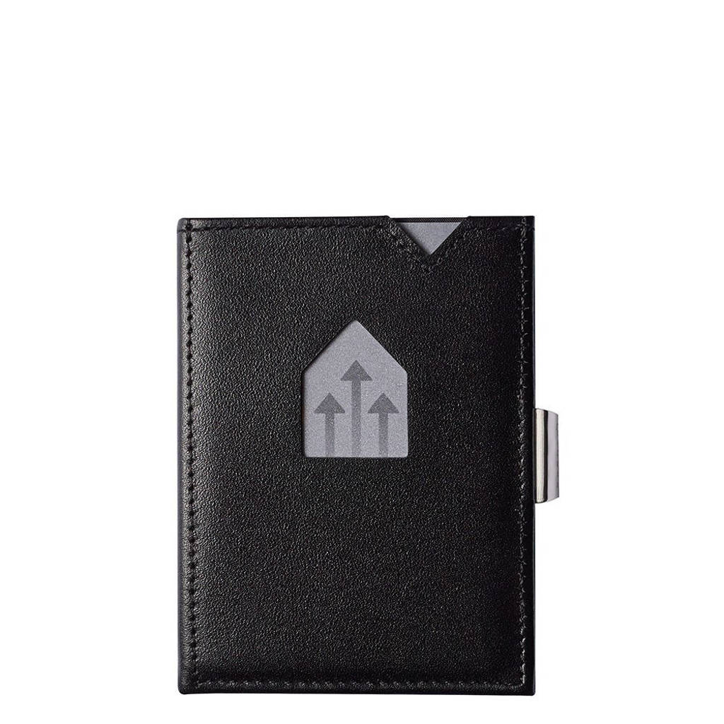 Exentri leren portemonnee RFID zwart, Zwart