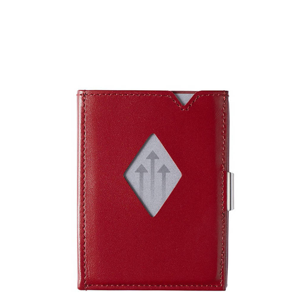 Exentri Leather Wallet RFID rood, Rood
