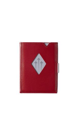 Leather Wallet RFID rood