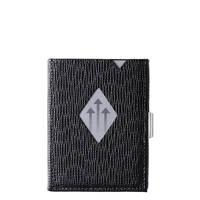Exentri Leather Leather Wallet zwart, Zwart